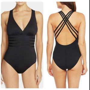 La Blanca Swimwear Cross Back One-Piece Swimsuit